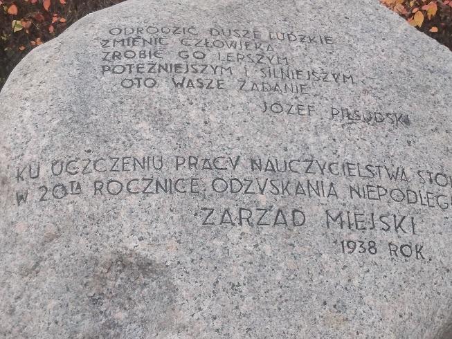 81 rocznica odsłonięcia przez  Prezydenta Stefana Starzyńskiego głazu pamięci ku czci nauczycieli Stolicy.
